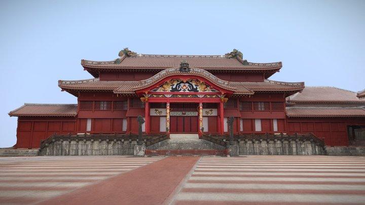 首里城 正殿 Shurijo Seiden 3D Model