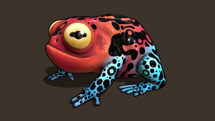 Poisonous Frog 3D Model