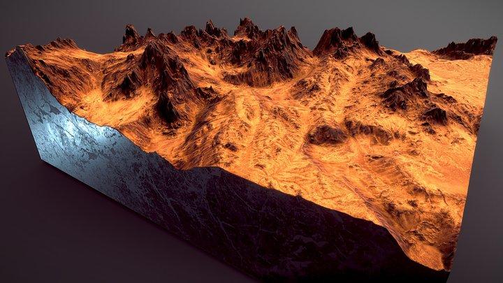 Martian Landscape 3D Model