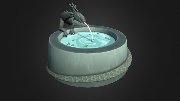 TeaScroll Clubhouse - Fountain Prop 3D Model