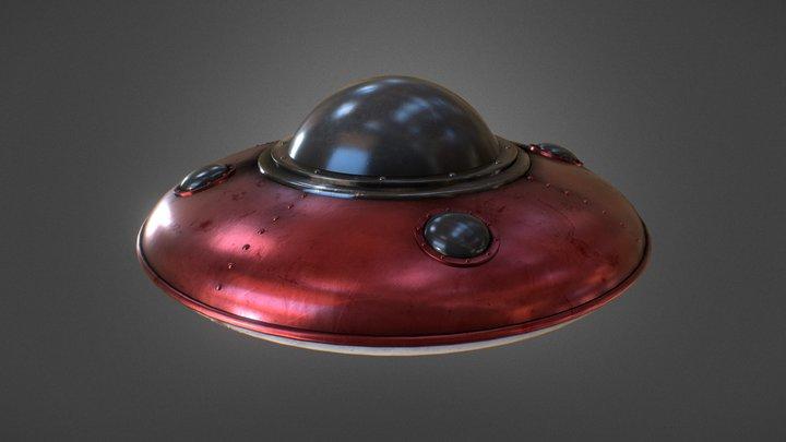 UFO Retro Toy 3D Model