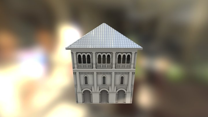Romanesque Medium Low Poly 3D Model