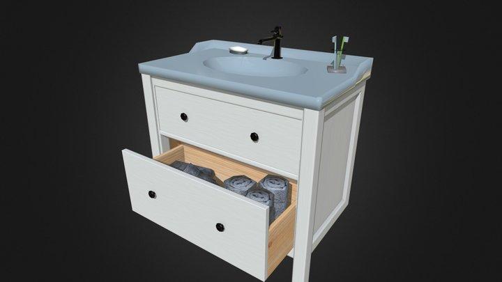 Sink cabinet A 3D Model