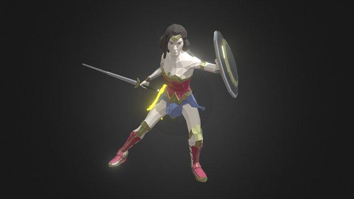 Wonder Woman (Gal Gadot) 3D Model