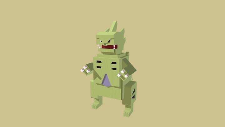 Tyranitar Minecraft 3D Model