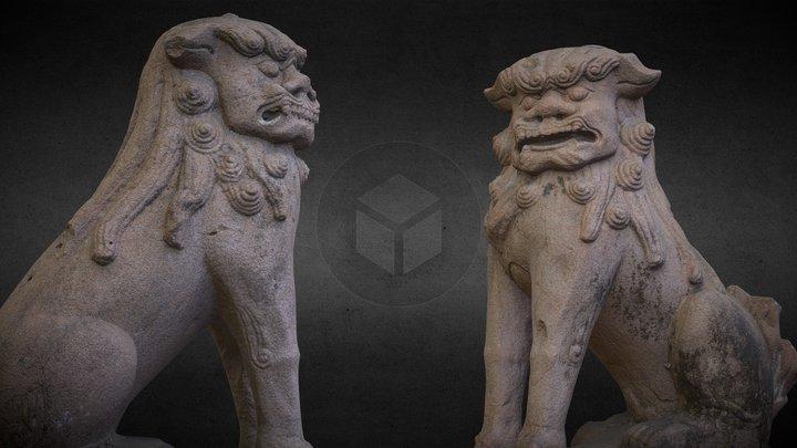 Lion-dog (Komainu, from Yasui-konpiragu Kyoto) 3D Model
