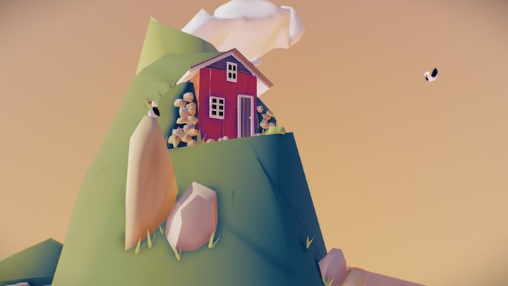 Iceland island 3D Model