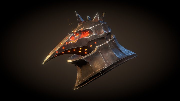 Fire deamon helmet 3D Model
