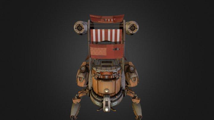 Sand Walker 3D Model