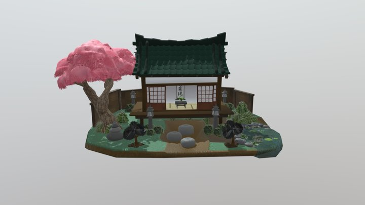 Stylized Japanese House 3D Model