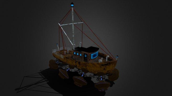 Sky Ship 3D Model