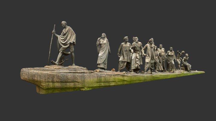 Gandhi Salt March 3D Model