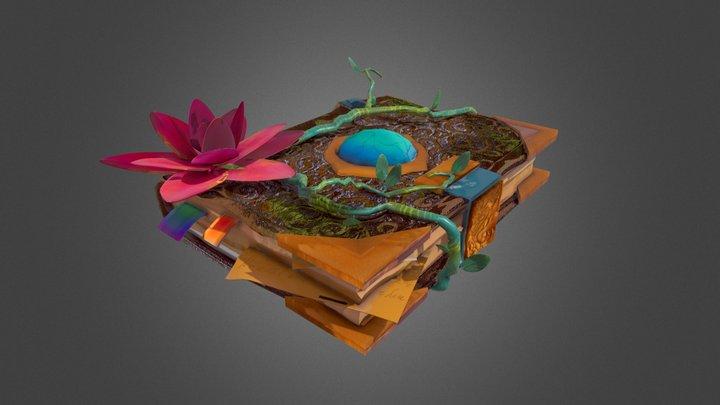 Dryade boek 3D Model