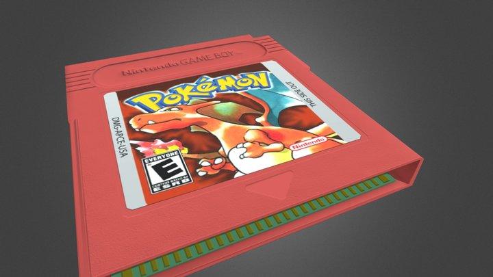 Pokemon Red Version - Game Boy Color Cartridge 3D Model