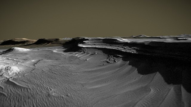 Uzobi Vallis Monolith 3D Model