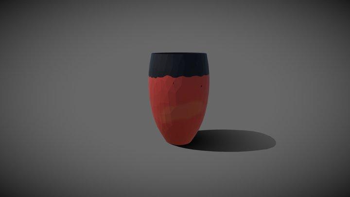 Predynastic Egyptian black-topped vessel 3D Model