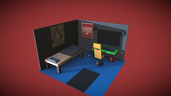 Gaming Room 3D Model