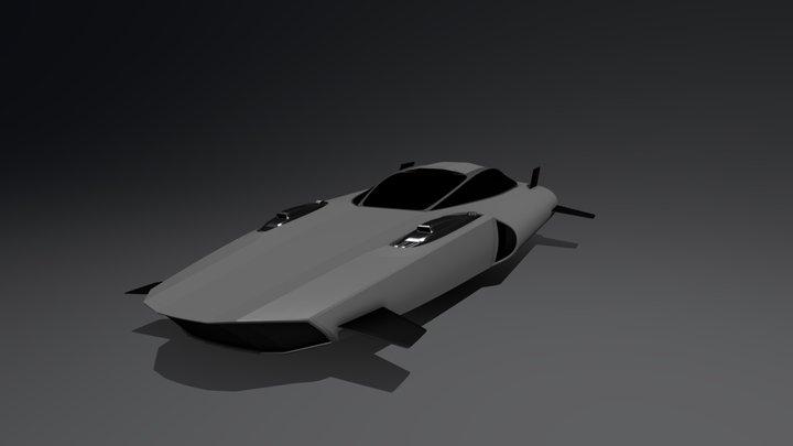 Racing Hover Car 3D Model