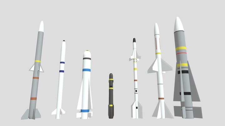 Aircraft Missiles Collection 3D Model