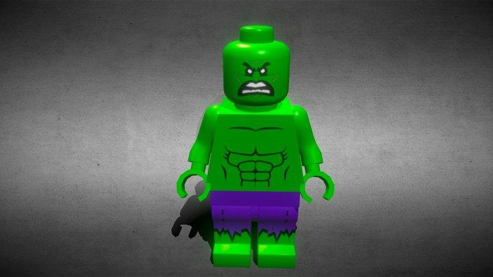 hulk marvel toy low poly CC0 3D Model