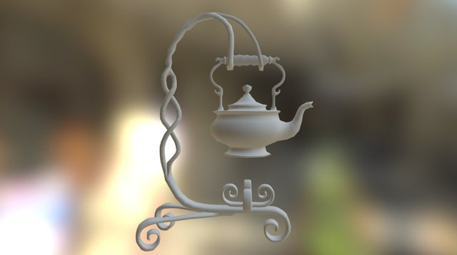 Victorian Kettle Stand 3D Model
