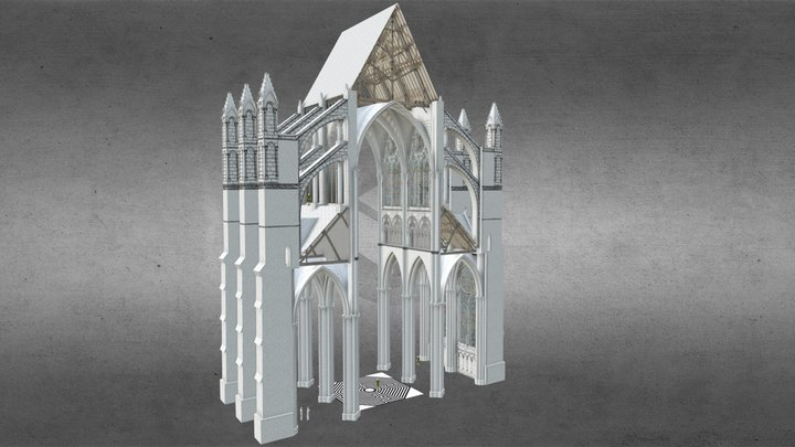 Amiens Cathedral Nave 3D Model