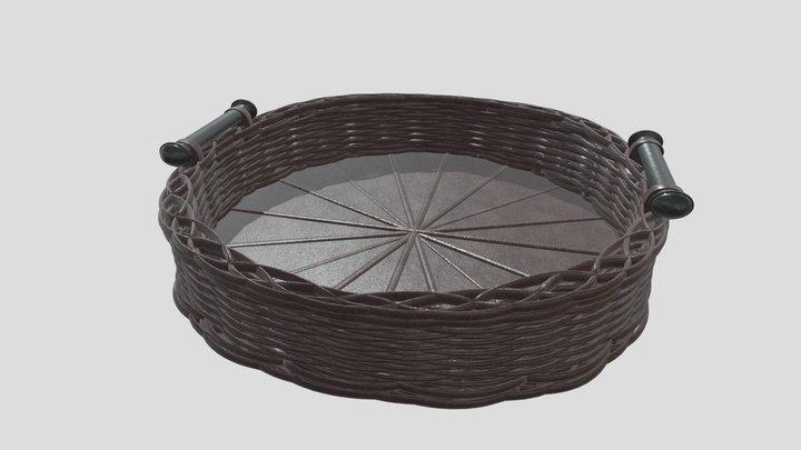 Woven Basket 3D Model