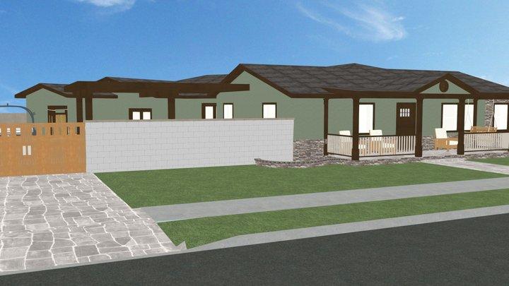 Landscape Plan Entry 3D Model
