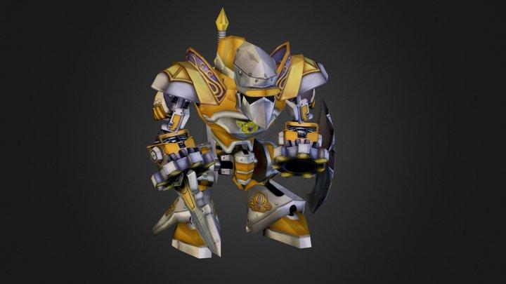 Golden Castle Gear 3D Model