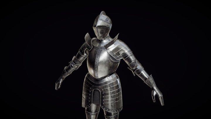 Renaissance Plate Armour 3D Model