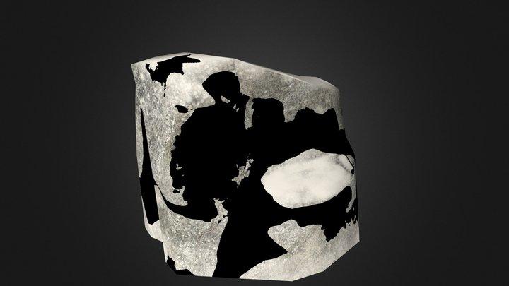 Flat Rock 03 [Snow] 3D Model