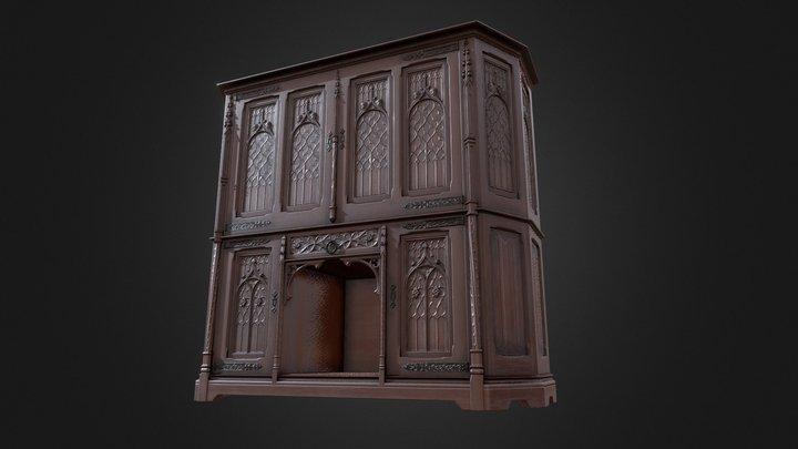 Gothic Wardrobe 3D Model