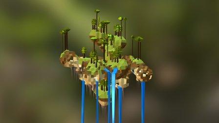 Float Island 3D Model