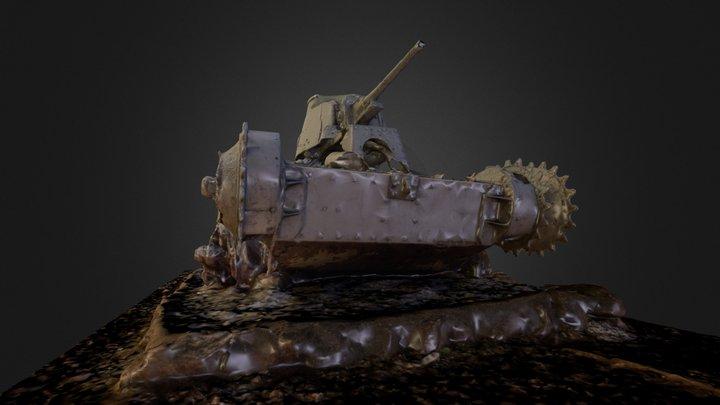 Tank at the Last Command post, Saipan 3D Model