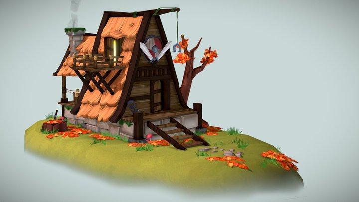 Viking Blacksmith 3D Model