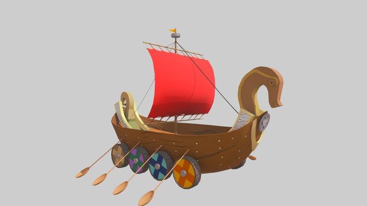 Viking ship 3D Model
