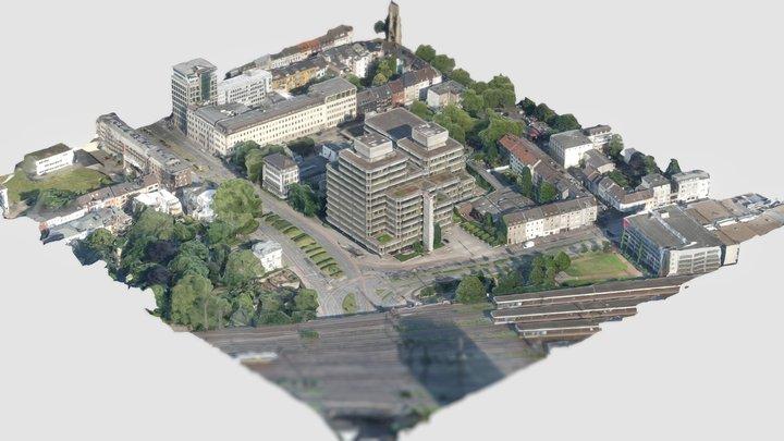 Silberpalais Duisburg Hauptbahnhof 3D Model