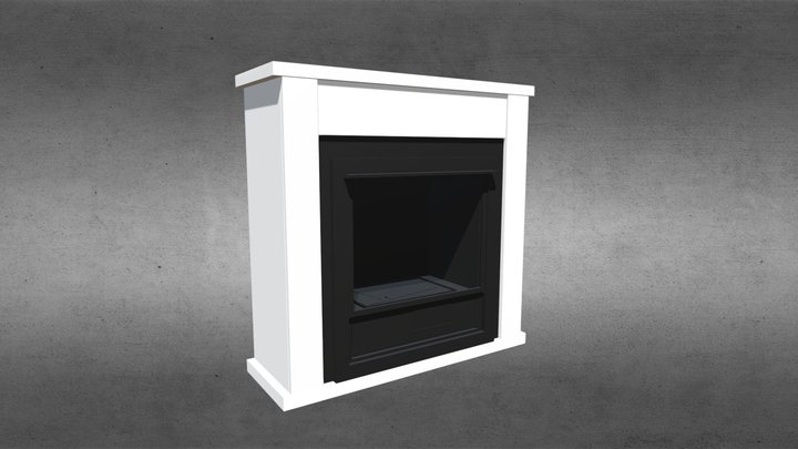 Lincoln - Traditional Ethanol Fireplace 3D Model