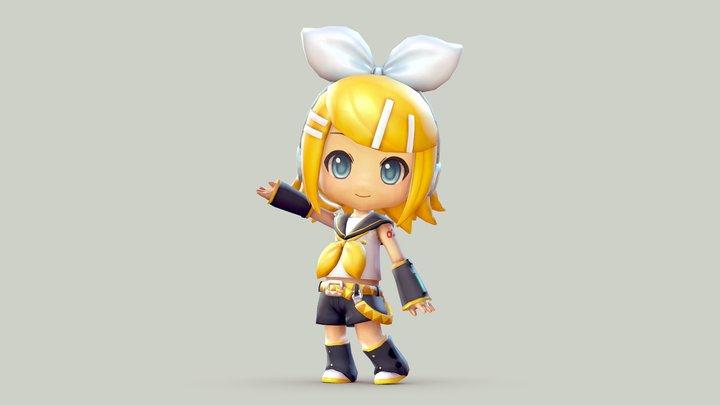 Vocaloid - Kagamine Rin 3D Model