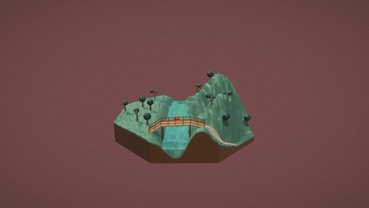 low poly landscape 3D Model