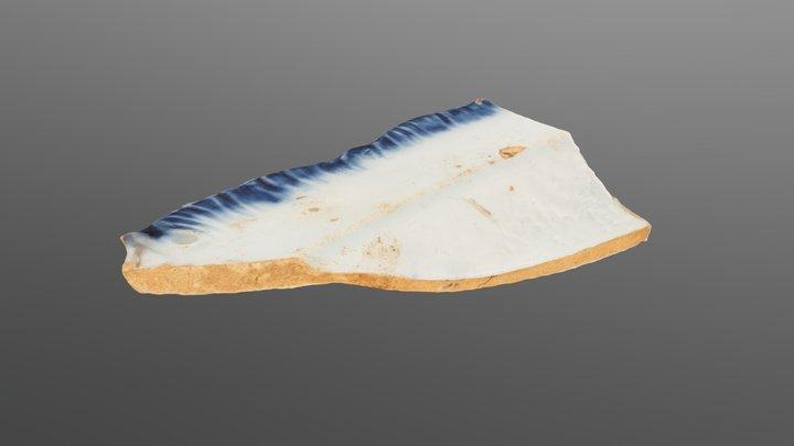 Pearlware Ceramic Sherd 3D Model