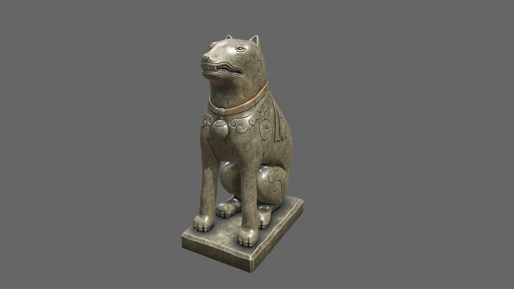 Stone dogs - Tomb: Duke Nghi 3D Model