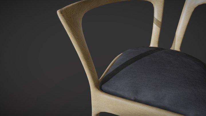 Silla cocina 3D Model