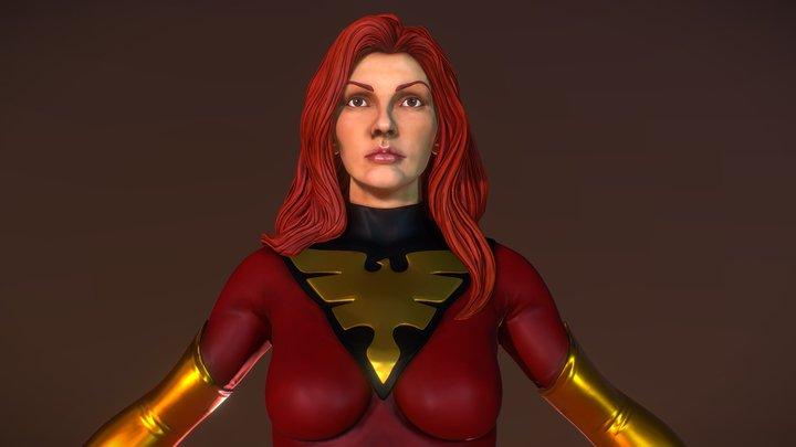 """Phoenix (X-Men) """"A Pose"""" 3D Model"""