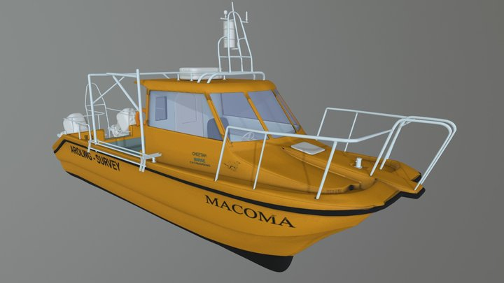 Macoma, research vessel for a  University 3D Model