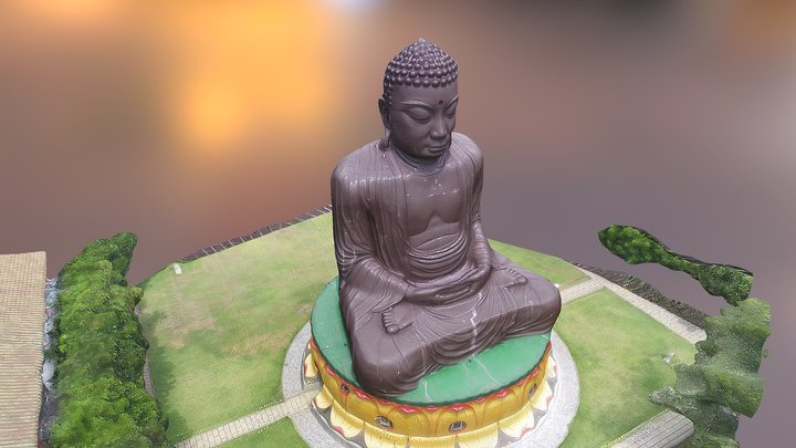 Great Buddha Statue of Baguashan 彰化八掛山 3D Model