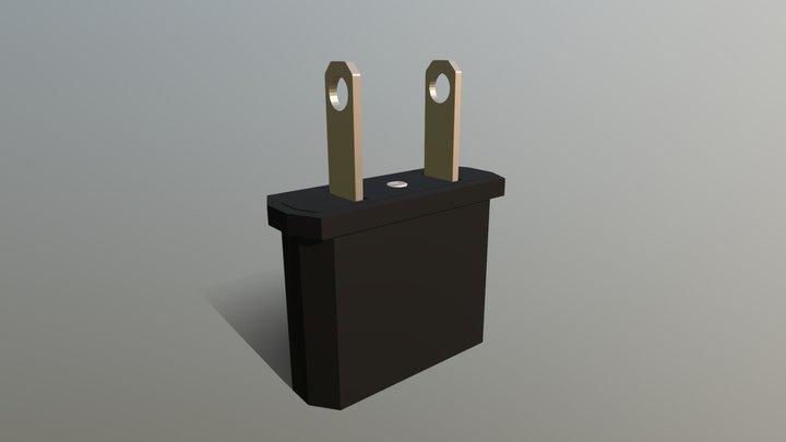 Adaptador de enchufe/Plug adapter 3D Model