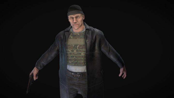 The leader of the gang 3D Model
