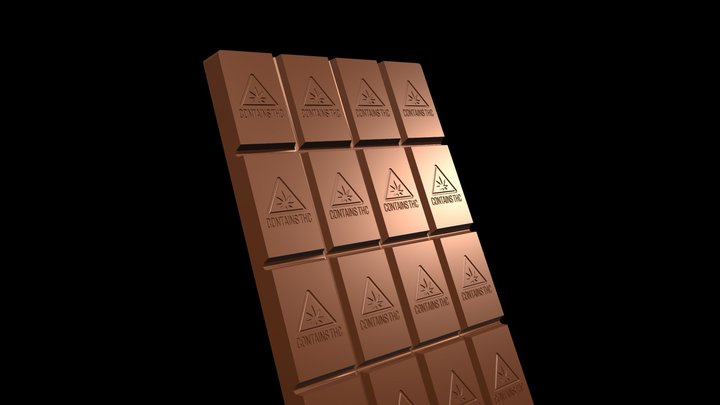 CHOCOLATE BAR - GIF 3D Model