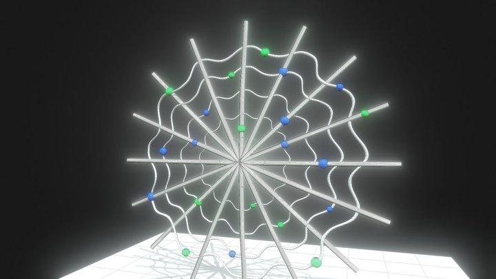 Spider Web Crawlebot Cyberweb 3D Model